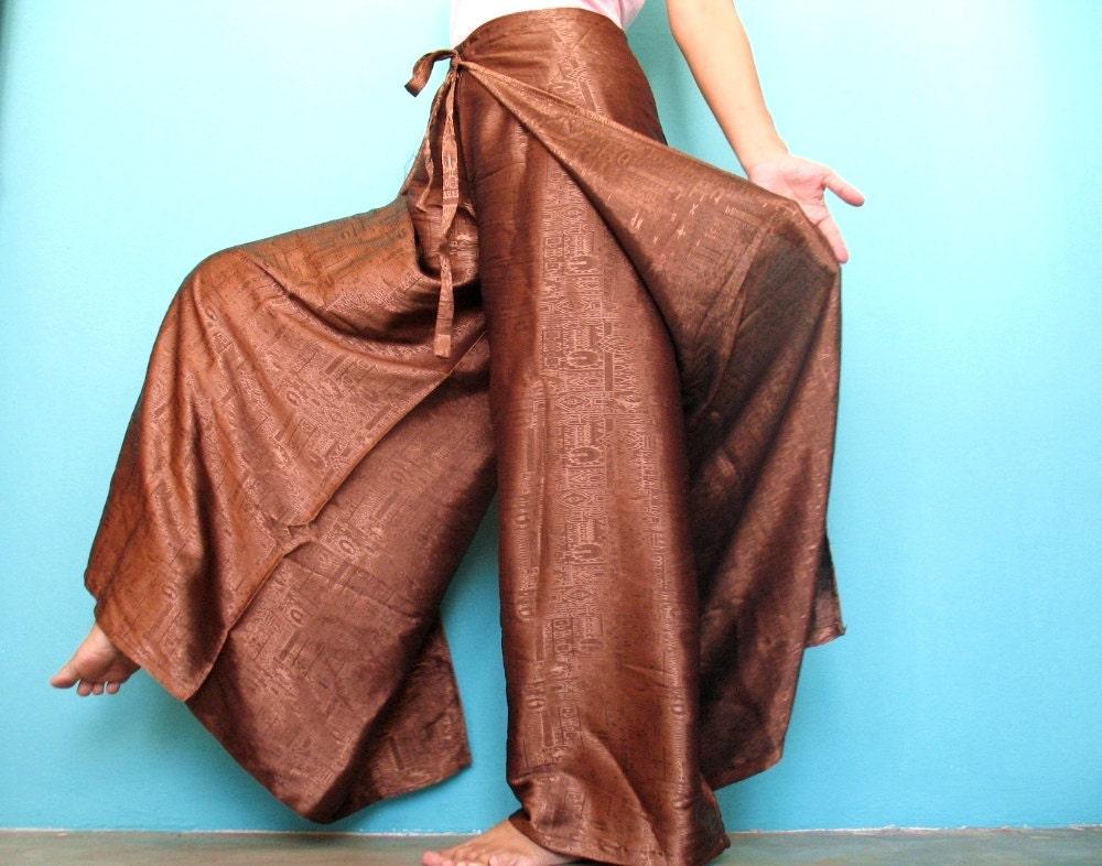 Harem Pants Thai Silk Yoga Wrap Women Plus Size Hippie Pants