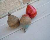 Vintage Wooden Tops Antique Toys