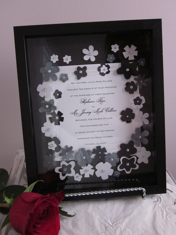 unavailable listing on etsy With wedding invitation frame etsy