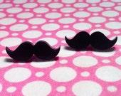 Mini Moustache Stud Earrings