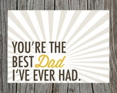Printable Father's Day Card Best Dad Ever Had