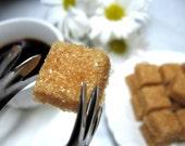 Raw Turbinado Sugar Cubes to Serve with Coffee or Tea 3 Dozen