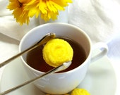 Sunny Yellow Rose Shaped Sugar Cubes 3 dozen
