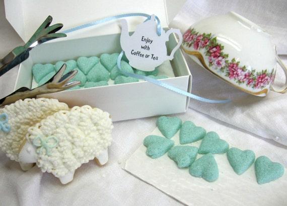 Elegant Tiffany Blue Rose Shaped Sugar Cubes 2 Dozen Ready to Ship