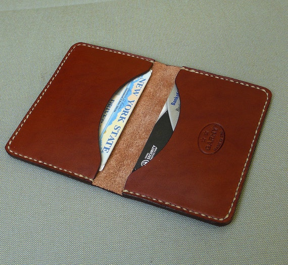 GARNY - Leather Fold No.6 - Simplified wallet from chestnut brown leather - FREE SHIPPING