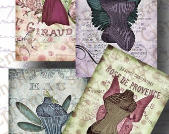 Fairy Corsets - Digital Collage Sheet