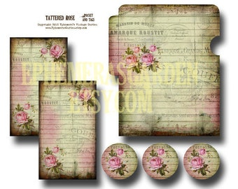 Tattered Rose Pocket and Tags