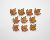Fall Leaf Buttons - Handcrafted Stoneware - Made in Maine by Caryn Burwood of Concepts In Clay