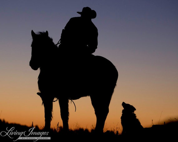 The Cowboy and His Dog - Fine Art Horse Photograph - Horse - Dog -  Fine Art Print