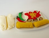 Chicken Enchilada and Tamale Felt Food Dinner