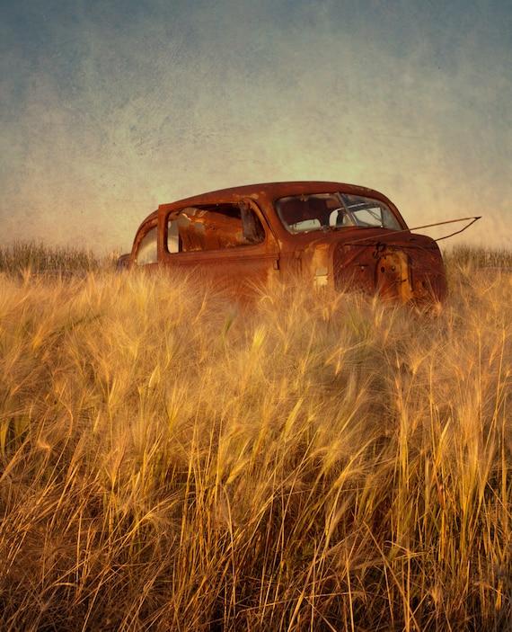 Fine Art Print of an old car