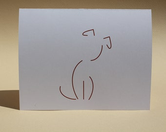 Dog - Brown - Blank Note Cards - Customizable