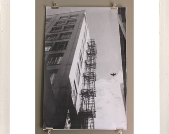 crow alley / large format halftone print / 24x36 black and white poster