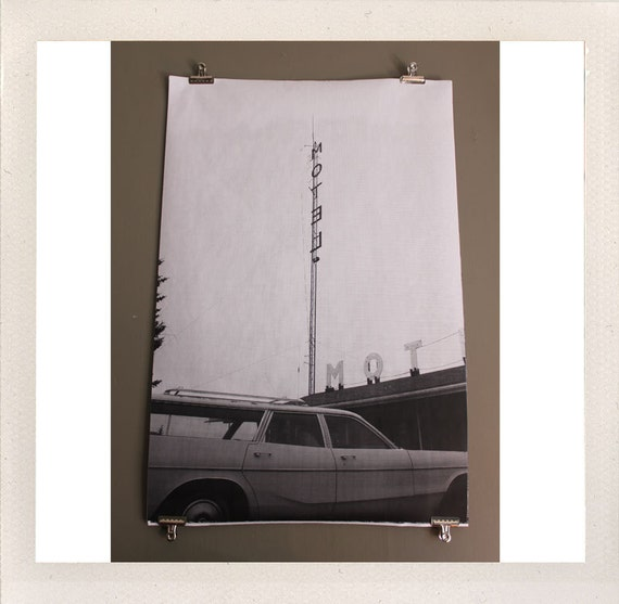 alturas, ca / large format halftone print / 24x36 black and white poster