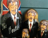 BEATLES set of 5  Russian made nesting dolls gift condition