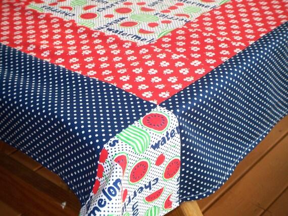 picnic table tablecloth retro country farmhouse decor