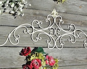"""Large Antique White Distressed Wall Scroll-42"""""""