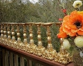 "10"" Candle Holders in Brillant GOLD- ""Six pair"""
