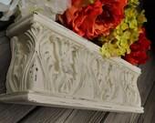 "Sweet Shabby Wall Shelf-14.5"" Distressed Antique White"