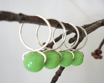 Honeydew - Handmade Snag Free Knitting Stitch Markers (Large) - Fit up to size 15 US (10.00 mm)