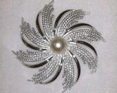 Vintage Sarah Coventry Large Pinwheel Brooch Gorgeous