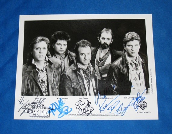 Autographed 1986 Stu Cook, Keith Knudsen, John McFee.. Southern Pacific Signed 8x10 Photo