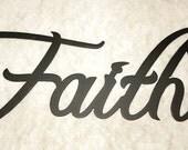 Faith Word Home Decor Metal Wall Art