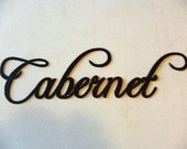 Cabernet Wine Word Home Kitchen Decor Metal Wall Art