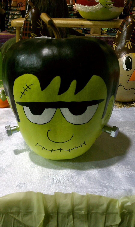 Handpainted Frankenstein Gourd