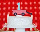 Modern Little Red Wagon Cake Topper