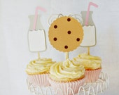 Yummy Cookies & Milk Cupcake Toppers