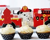 Sound the Alarm - Firetruck Cupcake Toppers