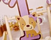 Pretty Puppy Party Smash Cake Topper