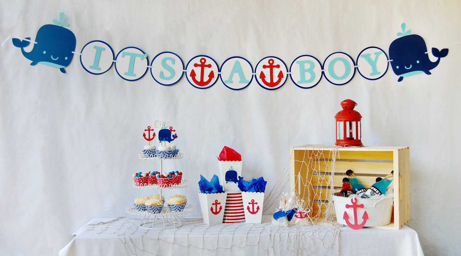 ahoy it 39 s a boy baby shower package by pinwheellane on etsy