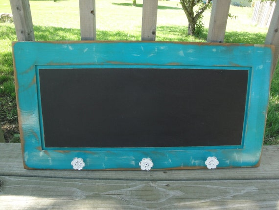 Items Similar To Repurposed Cabinet Door Shabby Chic Teal
