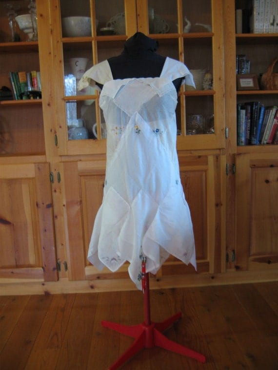 Repurposed Hankie Dress Upcycled Dress By CoyoteWoodWorks