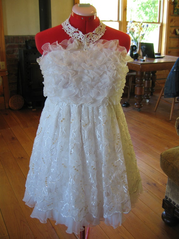 Items similar to repurposed wedding dress upcycled for Baby doll wedding dress