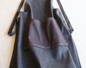 Garrett cotton denim work apron