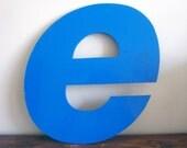 E - Reclaimed metal letter