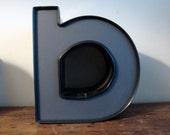 Reclaimed metal letters - B