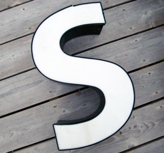 18 Inch Metal Letters Vintage Metal Letter S 18 Inch