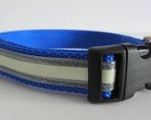 3/4 Inch Adjustable  Reflective Glow in the Dark Dog Collar