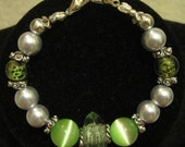 Green Cat's Eye Replacement Medical ID Bracelet