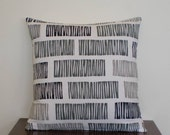 Lovely patterned cushion cover in black,white and greys 45cmx45cm