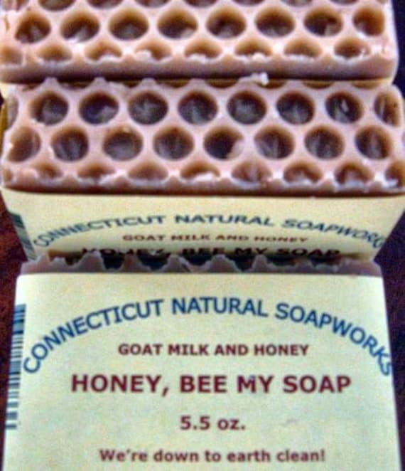Honey, Bee My Soap Goat Milk & Honey soap-natural-5.5oz
