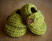 Baby Loafers - Pea Green