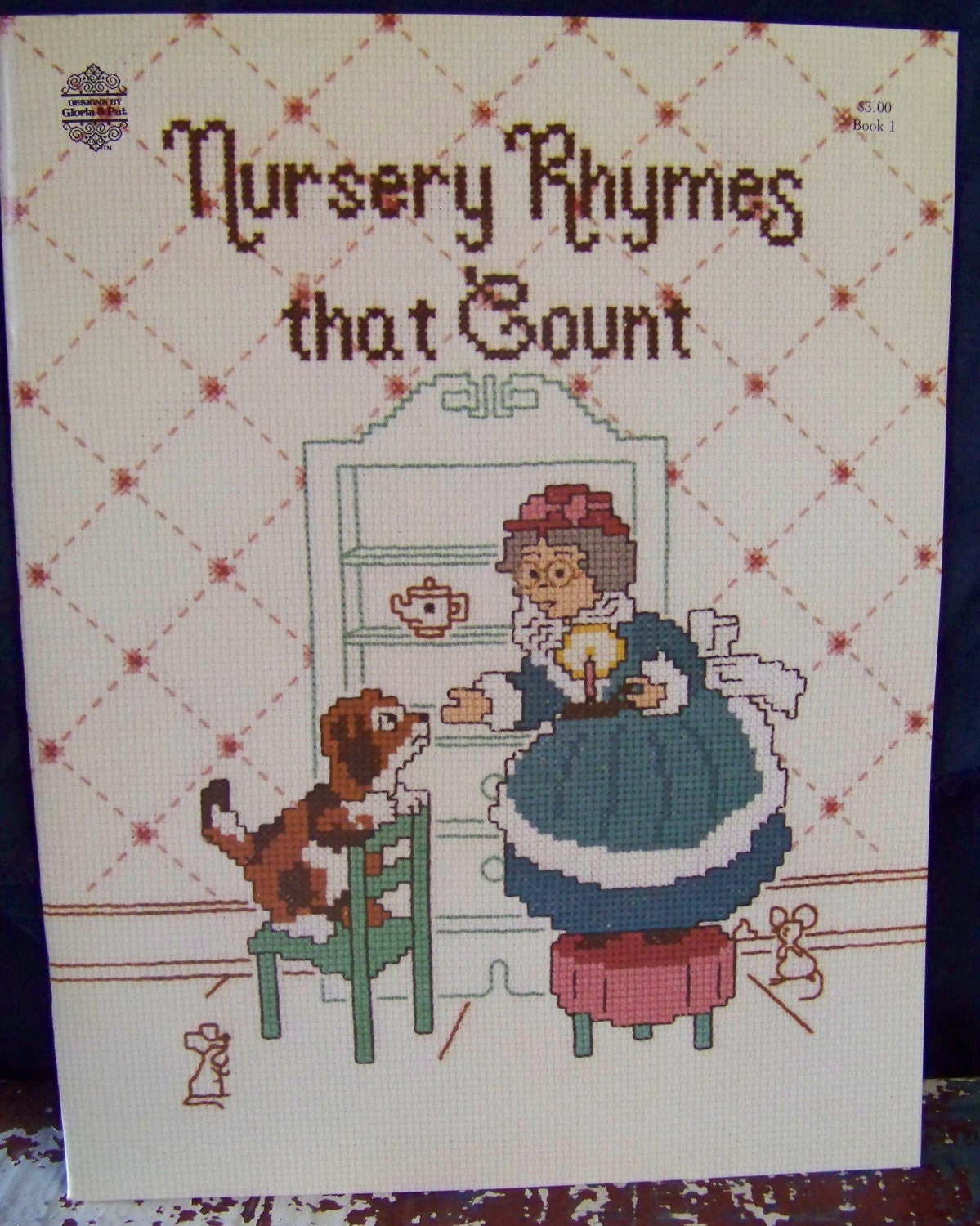 Vintage gloria pat cross stitch pattern book nursery rhymes