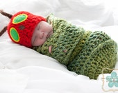 The very Hungry Caterpillar Hat and Cocoon set