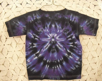 Tie dye shirt, 3 Toddler, Spider of black and purple