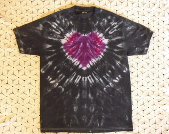 Tiedye Adult Large shirt Purple Heart- will ship today!